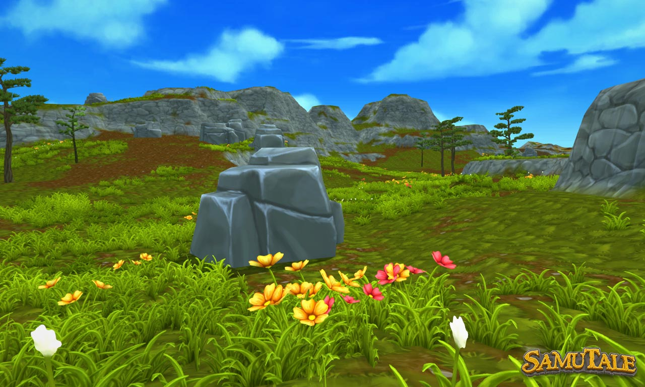 New world terrain showing grassy plains